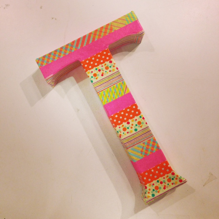How to paper tape initials for kids louette lifestyle for Cool things to build with paper