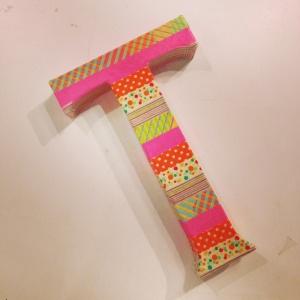 paper tape letter