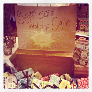 summer table sale