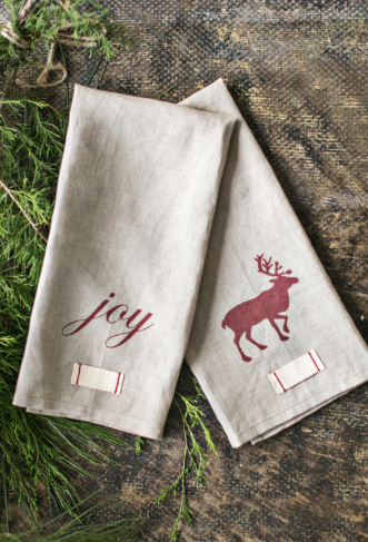 1. Holiday Tea Towels & Napkins