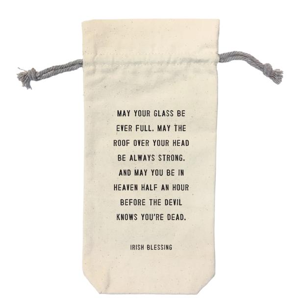 5. Canvas Wine Bag